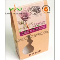 Wholesale PVC Windows Cardboard Food Packaging Boxes , Self Closing Cardboard Takeaway Containers from china suppliers