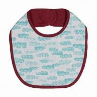 China Baby's Bib, Water-resistant, Various Designs and Sizes are Available on sale