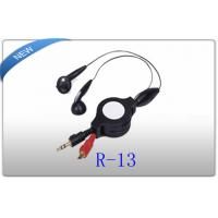 Buy cheap 3.5mm Stereo Noise Canceling retractable earphones In ear for OEM / ODM from wholesalers