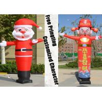 Buy cheap Desktop Blower Inflatable Tube Man Father Christmas shape Height 3m from wholesalers