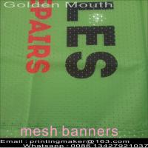 China Custom Size 350G PVC Vinyl Mesh Banners on sale