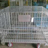 Buy cheap Steel Folding Stackable Pallet Cages , Wire Container Storage Cages from wholesalers