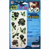 Buy cheap Luminous/Glow in Dark/Tattoo Stickers, OEM and ODM Orders Welcomed from wholesalers