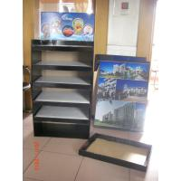 Euro standard Cardboard Floor Display with 5 trays customzied for Mugs , plates