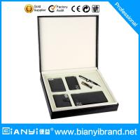 Buy cheap Custom promotional Pen Leather Wallet Gift Set from wholesalers
