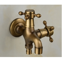 Buy cheap Antique Bronze Tap 45mm Outdoor Water Tap And Sprayer from wholesalers