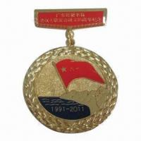 Buy cheap 50mm Diameter Zinc Die-cast Association Memorial Medal with Gilding and Checkered Back from wholesalers