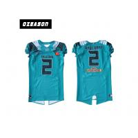 Buy cheap Polyester Mesh Sublimated Football Jerseys / American Football Shirt For Training from wholesalers
