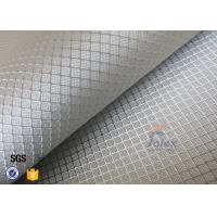 220g Silver Plated Aluminized Fiberglass Cloth Fabric For Surface Decoration Manufactures