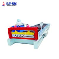 Buy cheap High Quality Color steel plate metal sheet corrugated roof panel making roll forming machine from wholesalers