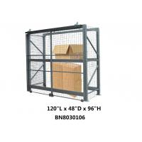 Buy cheap Heavy Duty Steel Pallet Rack Security Cage Systems 10'*4' *8' High Sliding Door Type from wholesalers