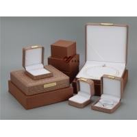 Buy cheap Brown Pu Leather Jewellery Box 5 Pcs / Set ,  Every Jewelry Box With Outer  Box from wholesalers