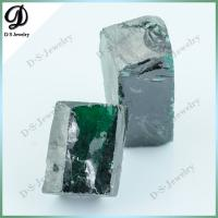 Buy cheap Synthetic Cubic Zirconia Gemstone Emerald Green CZ Rough from wholesalers