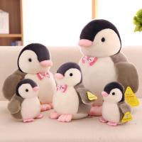 Cute Penguin With Bow Tie Stuffed Animal Toys 10cm / 15cm / 25cm / 35cm Manufactures