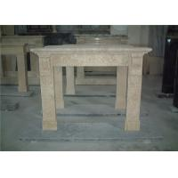 Buy cheap Simple Design Beige Marble Fireplace Surround For House Fireplace Mantel from wholesalers