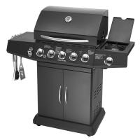 Buy cheap 5 Burners And Side Burner Gas BBQ Grill With Gast Iron Hotplate And Enamel Hoods from wholesalers