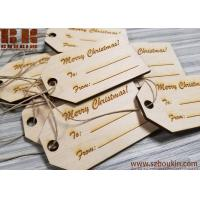 Buy cheap Engraved Wooden Gift Tags, Christmas Gift Tags, Wooden Name Tags, Personalized Gift Tags, Custom Wood Gift Tags, Christm from wholesalers