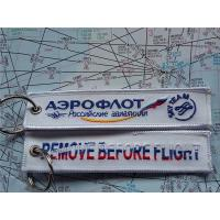 Aeroflot Russian Airline Remove Before Flight Embroidery Keyring Keychain Manufactures