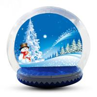 Wholesale 4m Big Inflatable Lawn Snow Globe / Blow Up Snow Globe Decoration from china suppliers