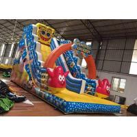 Buy cheap Custom Design Wet And Dry Inflatable Slide Spongebob Theme High Density product