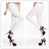 Buy cheap Salcar Candy004 Women Super Stretch White Fashion Pencil Pants Sexy Jeggings Skinny Jeans OEM ODM china factory from wholesalers