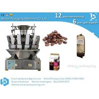 China Coffee bean quad pouch packing machine with gusset plastic bags on sale