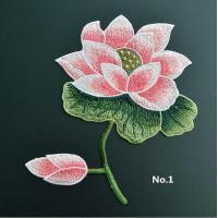Buy cheap Large Embroidered Flower Patches , Sew On Embroidered Appliques On Lace Fabric from wholesalers