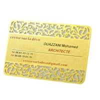 Wholesale Vip Rose Gold  Metal Business Cards Custom Engraved Golden Plated Advertisementing from china suppliers
