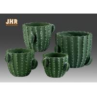 Buy cheap Green Color Cactus Flower Pots Homewares Decorative Items Succulents Plant Pots Cement Table Vases from wholesalers