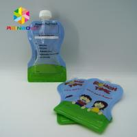 Buy cheap Reusable Food Pouch Packaging / Leak Proof Baby Food Pouches With Dual Zipper from wholesalers