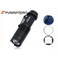 CREE XPE Q5 LED Flashlight Adjustable Focus, Hard Light Clip LED Torch Manufactures