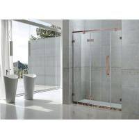 Buy cheap Red Bronze Inline Frameless Glass Shower Doors 8MM Tempered Glass For Apartment from wholesalers