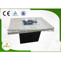 Korean BBQ Outdoor Hibachi Table With Non-Stick Painted Cast Iron Grill Plate Manufactures