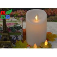 Wholesale Remote Controlled Flameless LED Candle Lights , Pillar Flickering LED Commercial Shop Lights from china suppliers
