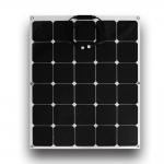 Buy cheap Black 110 Watt Thin Flexible Solar Panels 90cm MC4 Connectors For Boat from wholesalers