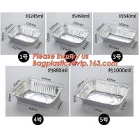 Buy cheap OEM Logo aluminium foil for food packing, disposable small foil tray, small aluminium foil container,Food grade aluminum from wholesalers