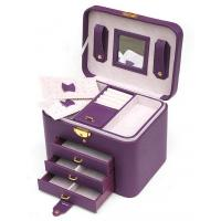 Wholesale Beautiful Pu Leather Tool Case Cosmetic Vanity Box With Mirror from china suppliers