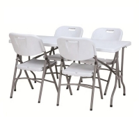 Buy cheap 152cm Length 74cm Height Foldable Outdoor Table , Folding Patio Bistro Set from wholesalers