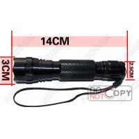 CE And ROHS 600 Lumens 3.0V-4.2V Tactical Led Flashlight With CREE T6 Led For Outdoor Activities Manufactures