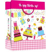 Buy cheap Custom happy birthday printed paper material with handle gift bag from wholesalers