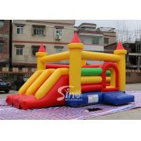 Buy cheap Kids Rainbow Inflatable Combo Bouncy Castle With Slide Made In China Inflatable Factory product