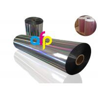 Buy cheap 20 Mic PET Dry Holographic Film Roll , Clear Polyester Film With Rainbow Pattern from wholesalers