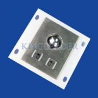 Buy cheap Panel Mounted Industrial Pointing Device Stainless Steel Trackball Left Right Click Buttons from wholesalers
