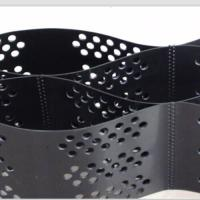 Buy cheap Smooth Surface HDPE Geocell 100mm Height  Black Color With Hole from wholesalers