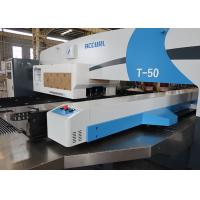 Buy cheap 50 ton CNC Turret Punching Machine With Stainless Steel Table from wholesalers