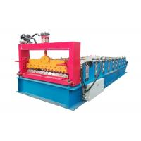 Buy cheap PPGI Color Steel Roll Forming Machine , Corrugated Roof Sheet Machine With Smooth Feed Plate from wholesalers