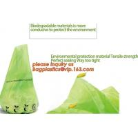 Buy cheap eco friendly biodegradable plastic compostable garbage bags, compostable biodegradable printed charity donation bag product