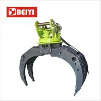 Buy cheap hydraulic log grapple,stone grapple,wooden grabble for excavator with 5 teeth from wholesalers