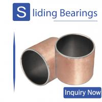 Buy cheap Sintered PTFE CuPb10Sn Polymer Plain Bearings In Agriculture And Construction Industry from wholesalers