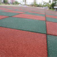 Buy cheap Elementary  schools playground safety surface Rubber Tiles High Density Long service life  mat from wholesalers